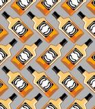 Butelka Szkocki bezszwowy wzór Whisky ornament ilustracji