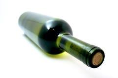 butelka tła występować samodzielnie w białym winem Zdjęcie Stock