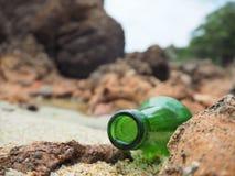 Butelka wiadomość Fotografia Stock