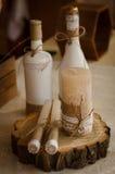 Butelka & świeczka Fotografia Royalty Free