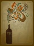 Butelka wino Zdjęcie Stock