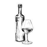 Butelka wino Obrazy Royalty Free