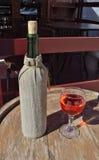 Butelka wino Fotografia Royalty Free