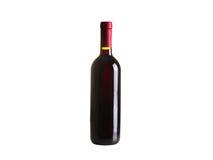 Butelka wino, odizolowywająca na białym tle fotografia royalty free