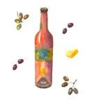 Butelka winograd Fotografia Stock