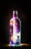 Butelka wszechświat ilustracji