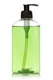 Butelka z zielonym ciekłym mydłem Fotografia Royalty Free