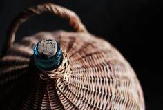 Butelka zawijająca w krzakach Zdjęcie Royalty Free