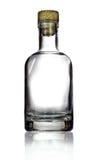 butelki ścinku szklany odosobniony kopalny ścieżki wody biel Obraz Stock
