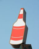 butelki alkoholu znak Obrazy Royalty Free