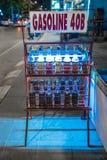 Butelki benzyna na ulicie - Koh Samui, Tajlandia - Zdjęcia Royalty Free