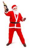 butelki Claus chmielny Santa wino zdjęcie stock