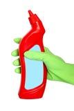 butelki cleaning wyposażenia ręki chwyt Zdjęcia Royalty Free