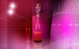 butelki colour wino royalty ilustracja