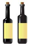 butelki czarny wino Fotografia Royalty Free