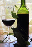 butelki czerwone wino Obrazy Royalty Free