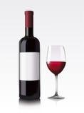 butelki czerwone wino Obrazy Stock