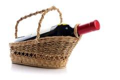butelki czerwone wino Zdjęcie Royalty Free