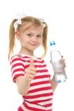 butelki dziewczyny szczęśliwa uśmiechnięta woda zdjęcie stock
