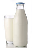 butelki glas mleko Obraz Royalty Free