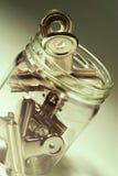 butelki klamerek papier Obraz Stock