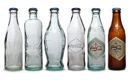butelki koka-kola Obrazy Royalty Free