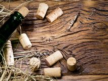 butelki korków wino Obraz Royalty Free