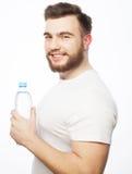 butelki mężczyzna woda fotografia royalty free