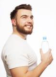 butelki mężczyzna woda obrazy stock