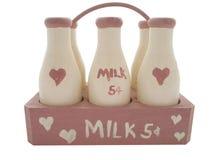 butelki mleka Zdjęcia Royalty Free