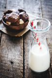 butelki mleka Zdjęcia Stock