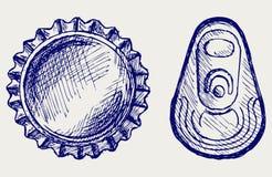 Butelki nakrętka ilustracja wektor