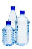 butelki odizolowywać nad wodnym biel obraz stock
