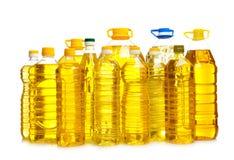 Butelki olej do smażenia, zdjęcia stock
