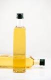 butelki oleju dwa orzech włoski fotografia royalty free