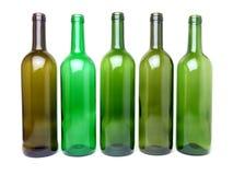 butelki opróżniają wino Zdjęcia Royalty Free