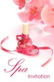 butelki orchidei zdrój Obrazy Royalty Free