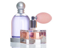butelki pachnidło dwa Zdjęcia Royalty Free