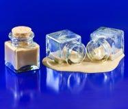 butelki pijący trunku whisky Zdjęcie Stock