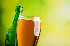 butelki piwnej kubek Obrazy Stock