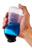butelki ręki mienia męski plastikowy biel Obraz Royalty Free