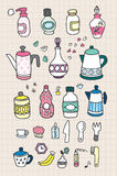butelki remisu ręka Ilustracji