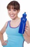 butelki seans wody kobiety potomstwa Zdjęcia Stock