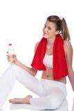 butelki sprawności fizycznej wody kobiety potomstwa Fotografia Royalty Free
