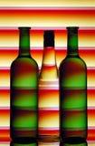 butelki sylwetek wino Obraz Royalty Free
