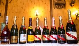 Butelki szampan obraz royalty free