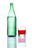 butelki szkła wody wino Zdjęcia Royalty Free