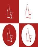 butelki szkła wysoki wino Obrazy Stock