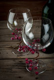 butelki szkieł wino Fotografia Stock