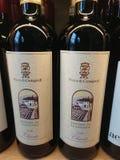 Butelki włoszczyzny Chianti wino zdjęcie stock